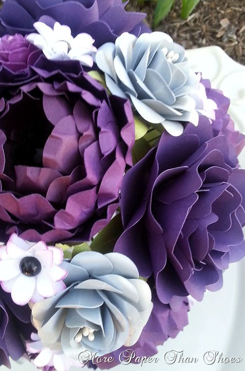 Realistically Beautiful paper flower bouquet - Designed by Anna Fearer