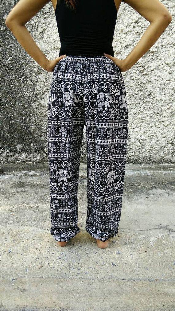 Modello Elephan stampa pantaloni Yoga pantaloni Hippie Baggy