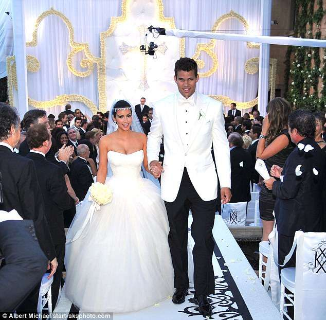 You Can Now Buy Pieces From Kim K And Kris Humphries Wedding Celebrity Wedding Photos Celebrity Weddings Celebrity Wedding Dresses