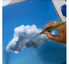 Peindre des Nuages à l'Acrylique                                                                                                                                                                                 Plus                                                                                                                                                                                 Plus