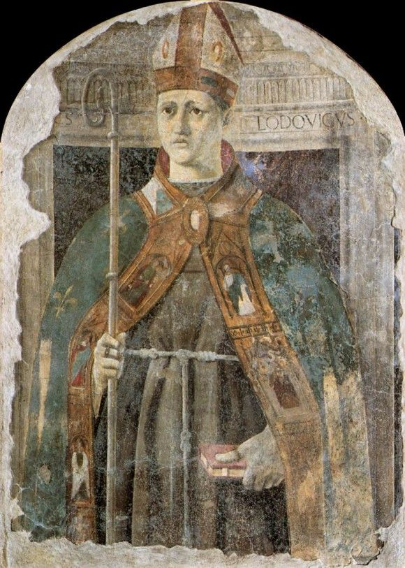 Св. Людовик - Пьеро делла Франческа. 1460 г. Pinacoteca Comunale, Sansepolcro.