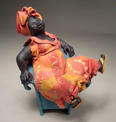 Title : Sitting Big Mama Description : Ceramic Sculpture Artist : Annie Peaker