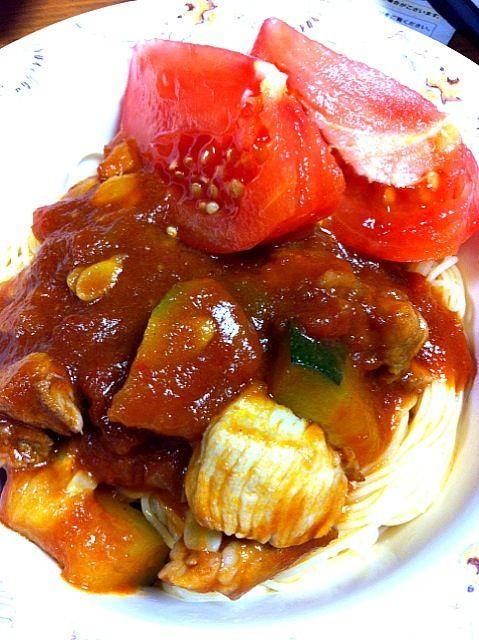 冷製パスタの季節ですね~ - 0件のもぐもぐ - ズッキーニとトマトのカペリーニ by yumama