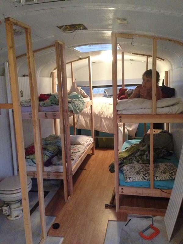 Family of Six Buys School Bus and Converts It Into Mobile Home