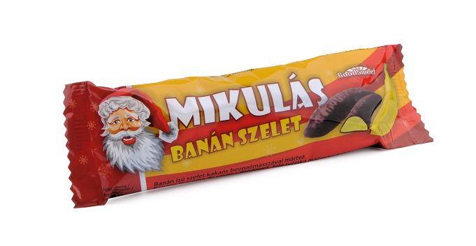 Mikulás, banán ízű szelet