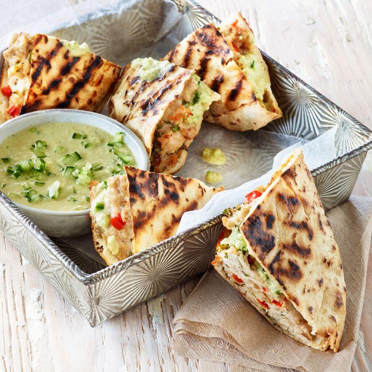 Grilled Turkey-Stuffed Pita with Cucumber and Tahini Sauce - Shady Brook Farms® turkey