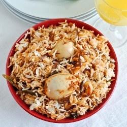 Egg Dum Biryani (substitute cabbage for rice?)