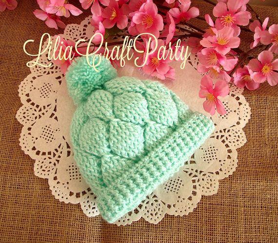 CROCHET PATTERN Baby Crochet Hat   Diamonds by LiliaCraftParty