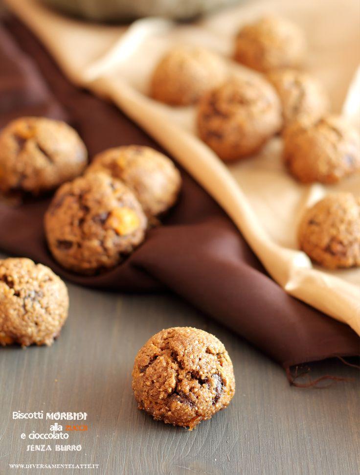 biscotti morbidi alla zucca e cioccolato vegan