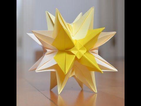 Kusudama estrella Ostrum - YouTube