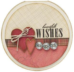 sweet card made using the Roxie paper packet from Close To My Heart
