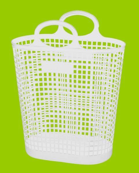 Panier en plastique blanc 27 litres