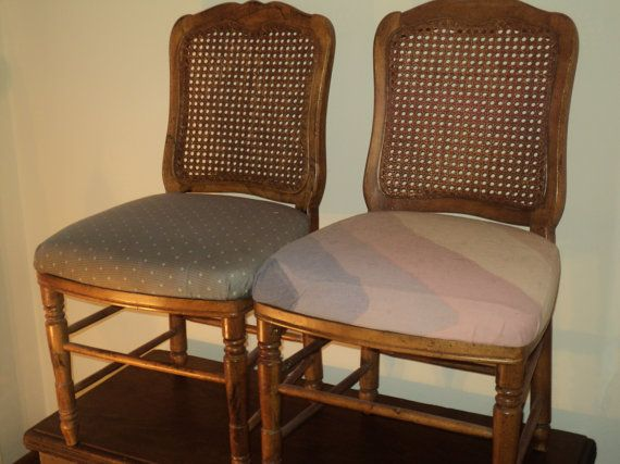 2 French Farmhouse Style Cane Backed Chairs with by RRGS on Etsy $49