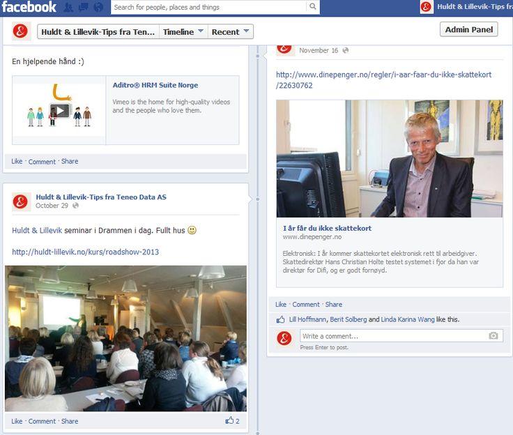 Huldt & Lillevik-tips på Facebook. Lønn og HR - https://www.facebook.com/lonnstips?ref=hl