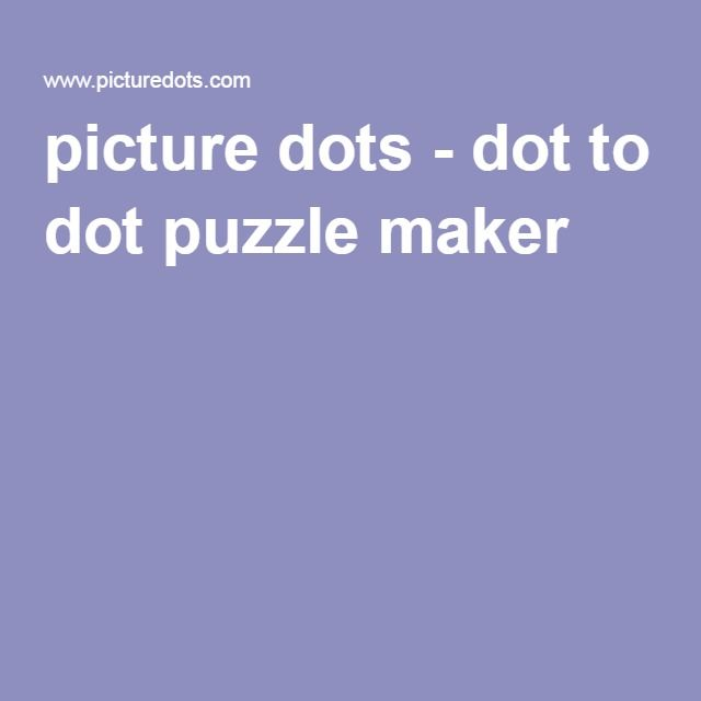 picture dots - dot to dot puzzle maker