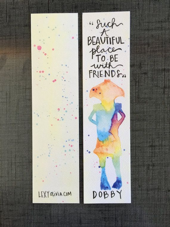 Dobby Bookmark // Harry Potter Bookmark by LexyOlivia on Etsy