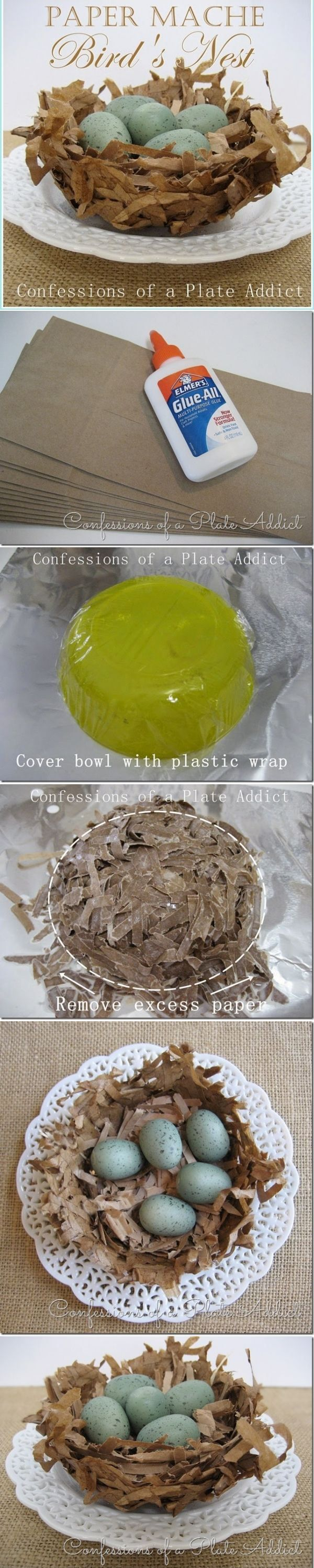 DIY Paper Mache Bird's Nests