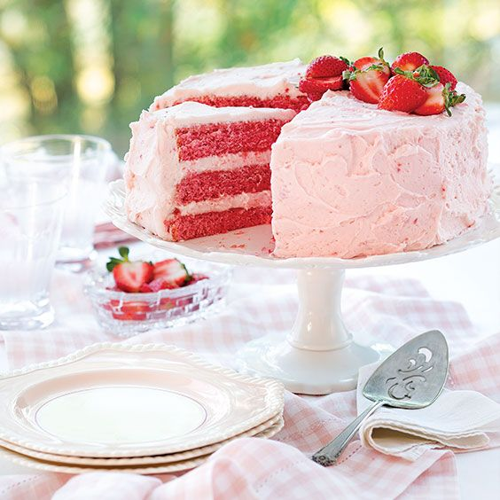 This scrumptious Strawberry Jam Cake is full of fruit flavor and covered in a richcream cheese frosting.    Save Recipe Print  Strawberry Jam Cake