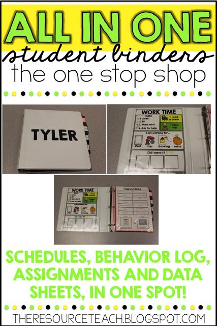 Keeping it Simple: All in One, Student Binders!!