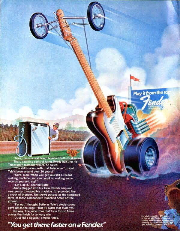 Vintage Fender Guitar Poster - KIRUFUS PICTURES