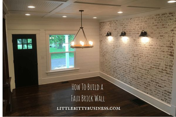 How to Build a Faux Brick Wall