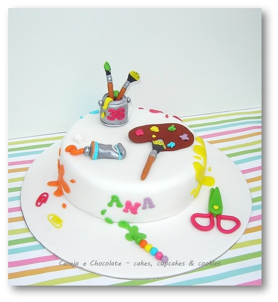 Art Attack Theme Cake : 99 mejores imagenes sobre Art / Craft / Hobby cakes en ...