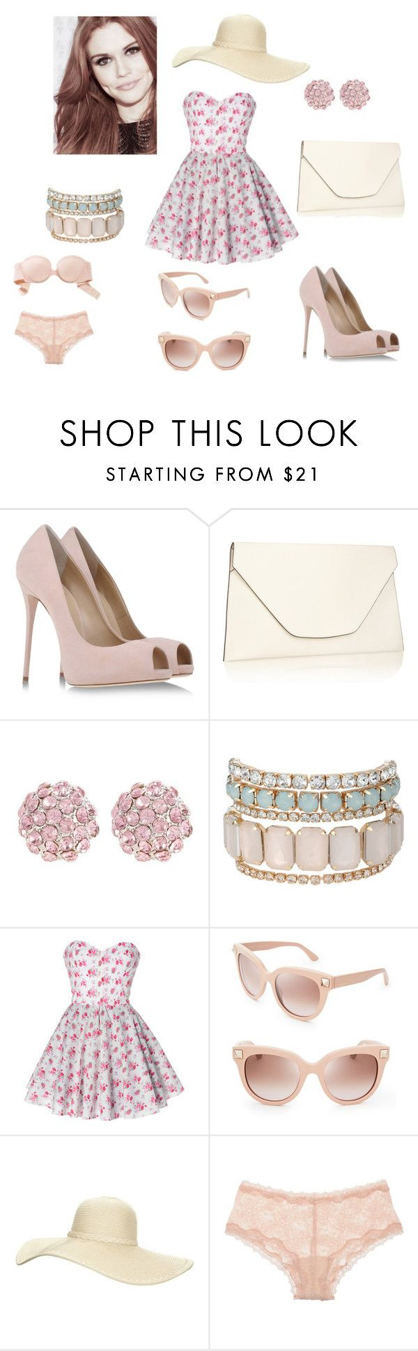"""mikafes"" by jessicabradley ❤ liked on Polyvore featuring Giuseppe Zanotti, Valextra, Snö Of Sweden, Jane Norman, Valentino, Reger by Janet Reger, Kinky Knickers, Aerie, women's clothing and women"
