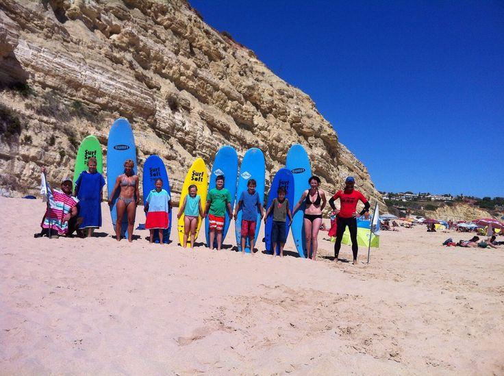 Proud surfers