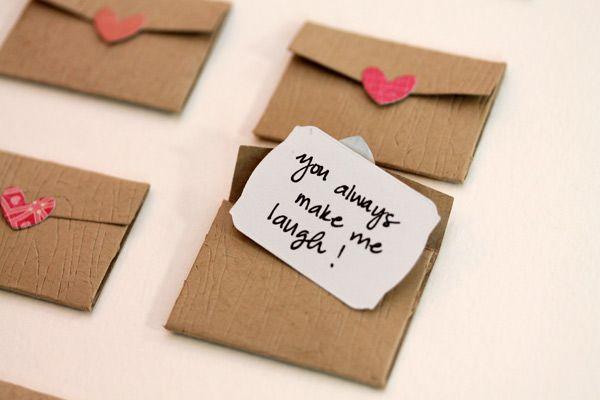 cute Valentine's day idea. Mini Love Notes via Damask Love