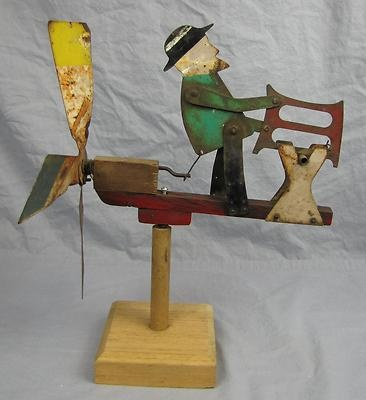 Folk art Metal Whirligig