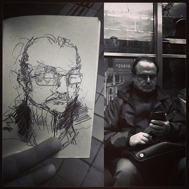 #gentequesedibujaeneltren #sketchbook #bocetorapido #boceto