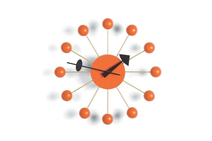 Ball Clock - Orange by George Nelson for Vitra | Space Furniture