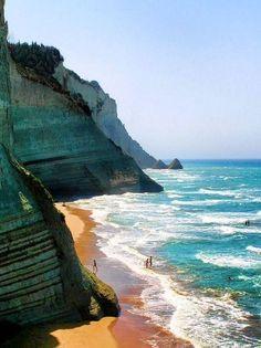Loggas Beach, Corfu, Greece Paint it in watercolors