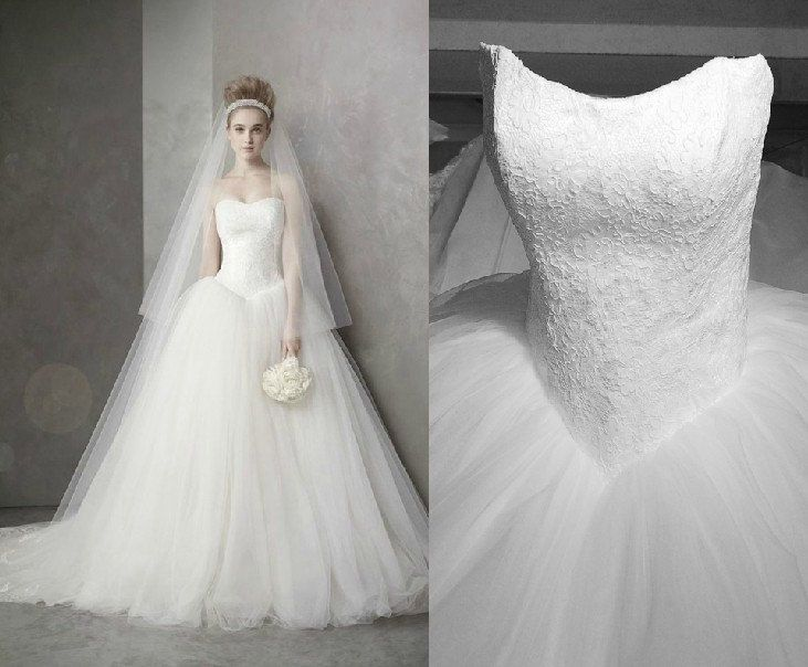 Beautiful Vera Wang Inspired Tulle Wedding Dress Bridal Gown by Lovingdress