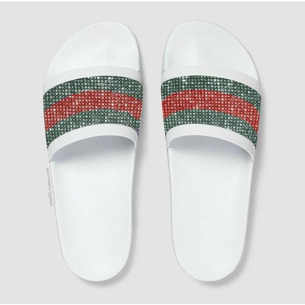 GG Supreme Tian Canvas ,Gucci women's slide sandals … (4525 MAD) ❤ liked on Polyvore featuring shoes, sandals, nike, slide sandals, nike sandals, nike shoes and canvas shoes