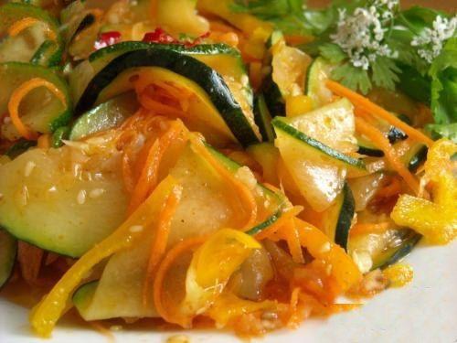 Салат из кабачков на зиму.   Школа шеф-повара