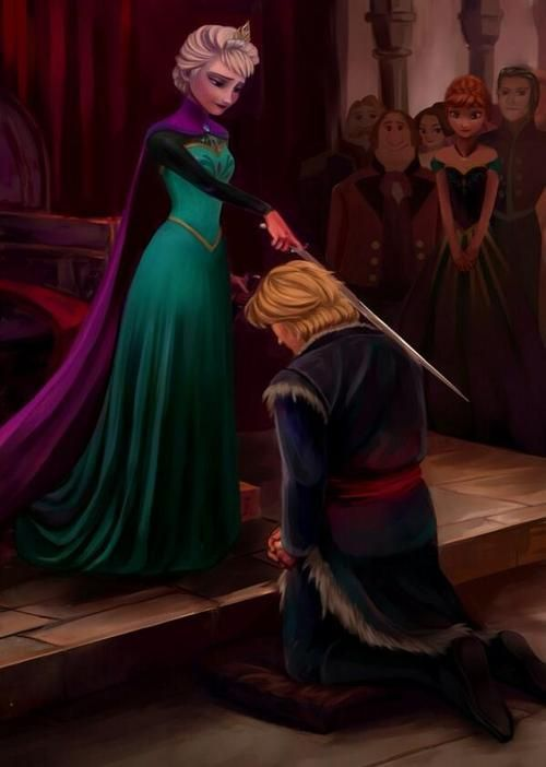 The Knighting of Kristoff.. Oh my gosh Sir Kristoff or Arendell :)