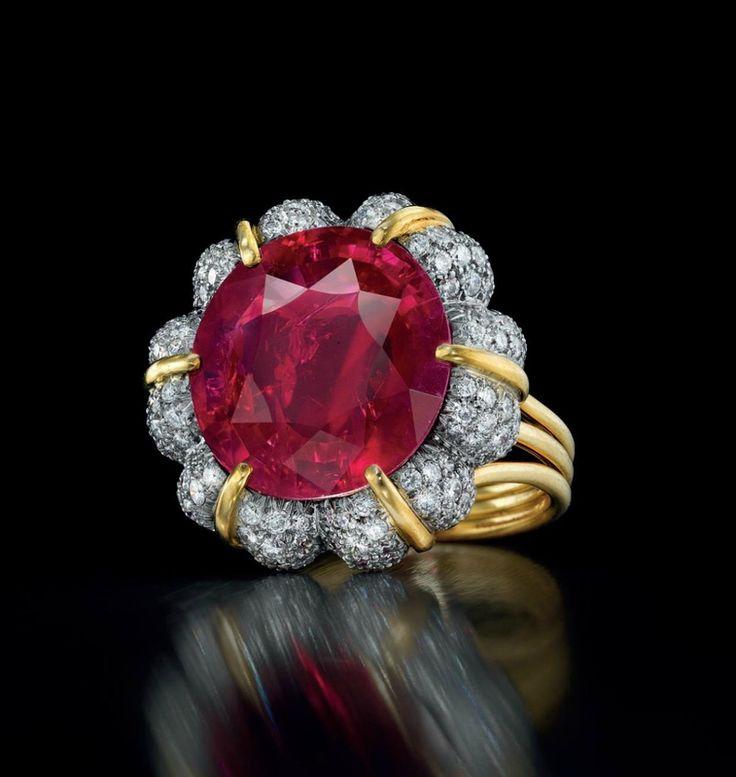 The Jubilee Ruby, 15.99 carat Burmese ruby and diamond ring by Verdura