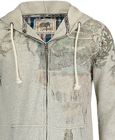 Braved the ugliness of the Buckle clothing selections to find a photo of the interesting hoodie I ordered a while back elsewhere.