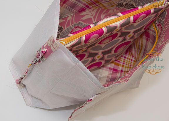 from the blue chair: Messenger Bag Tutorial: Making Bag Lining