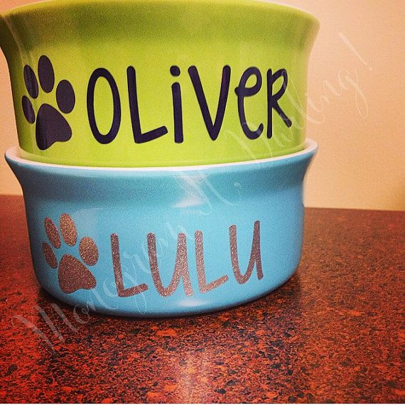 Personalized Dog Bowl Decal // Personalized by MonogramItDarling