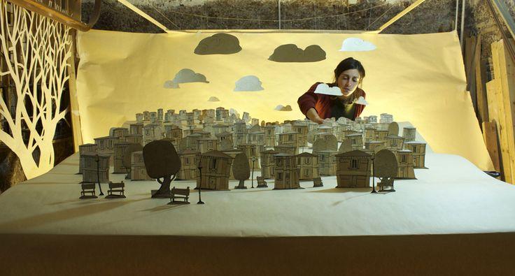 Felicita Sala. set design for animations by gianluca maruotti for the film Fantasticherie di un Passeggiatore Solitario.