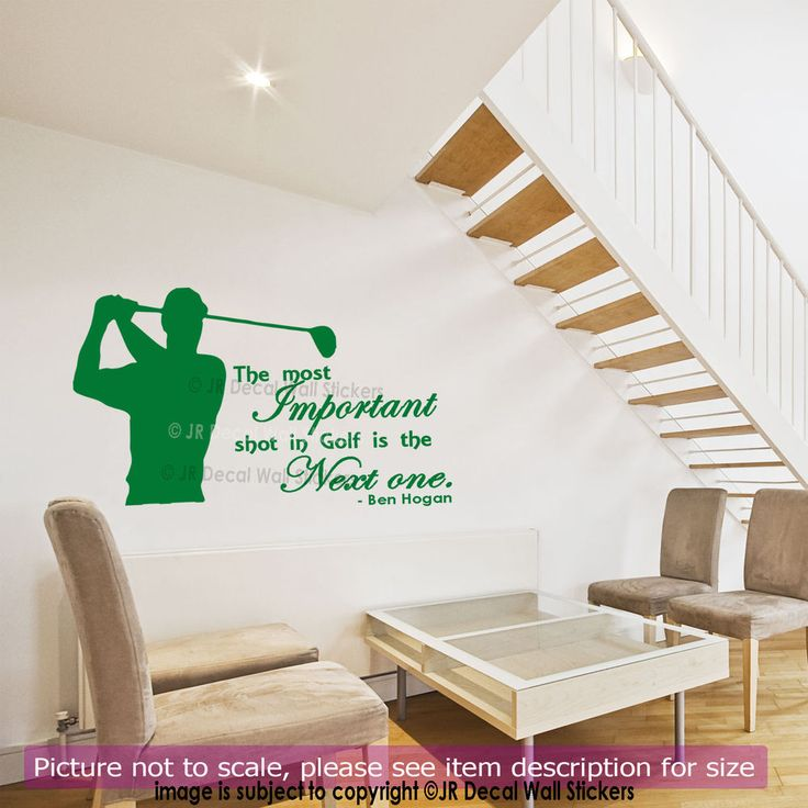 Ben Hogan Quote Golf Wall Stickers Quote Vinyl Removable Sports Decals Wall  Art
