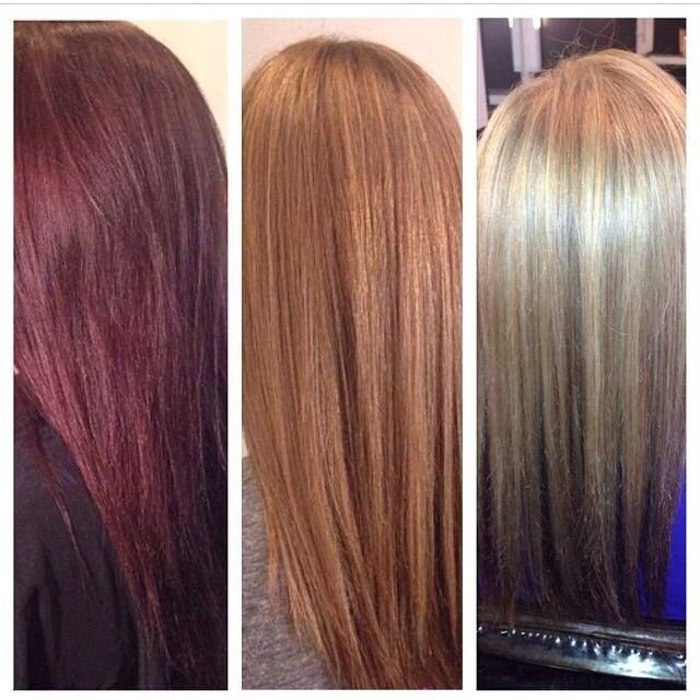 Color Correction Red to Blonde
