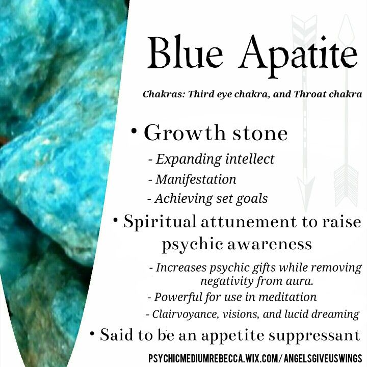 Blue Apatite crystal meaning