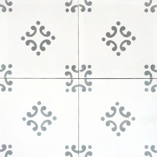 Floral Spanish design, ,Hydraulic Authentic Andalusian Tiles for both the floor and wall. MOD-189.