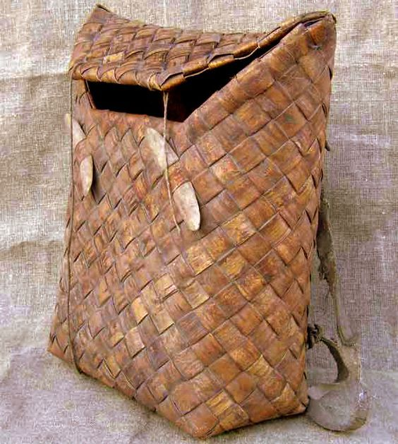 Scandinavian birchbark backpack. I wish to make this from tire parts.: