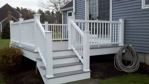 pictures gray and white trex deck - Google Search