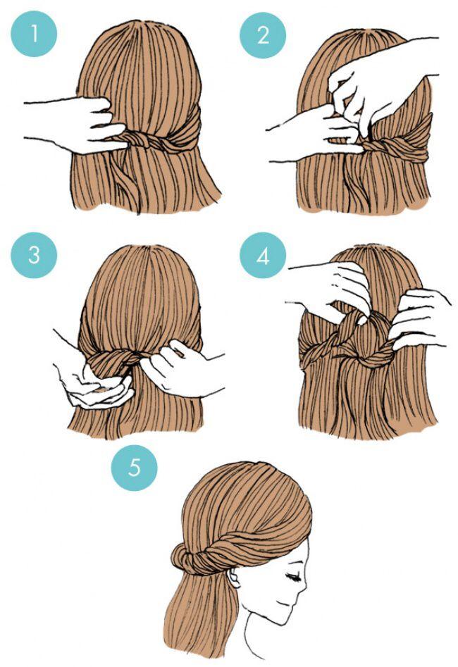 Hair knot.