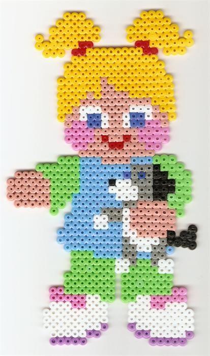 Cute little perler beads girl by Annamaria V. - Perler® | Gallery